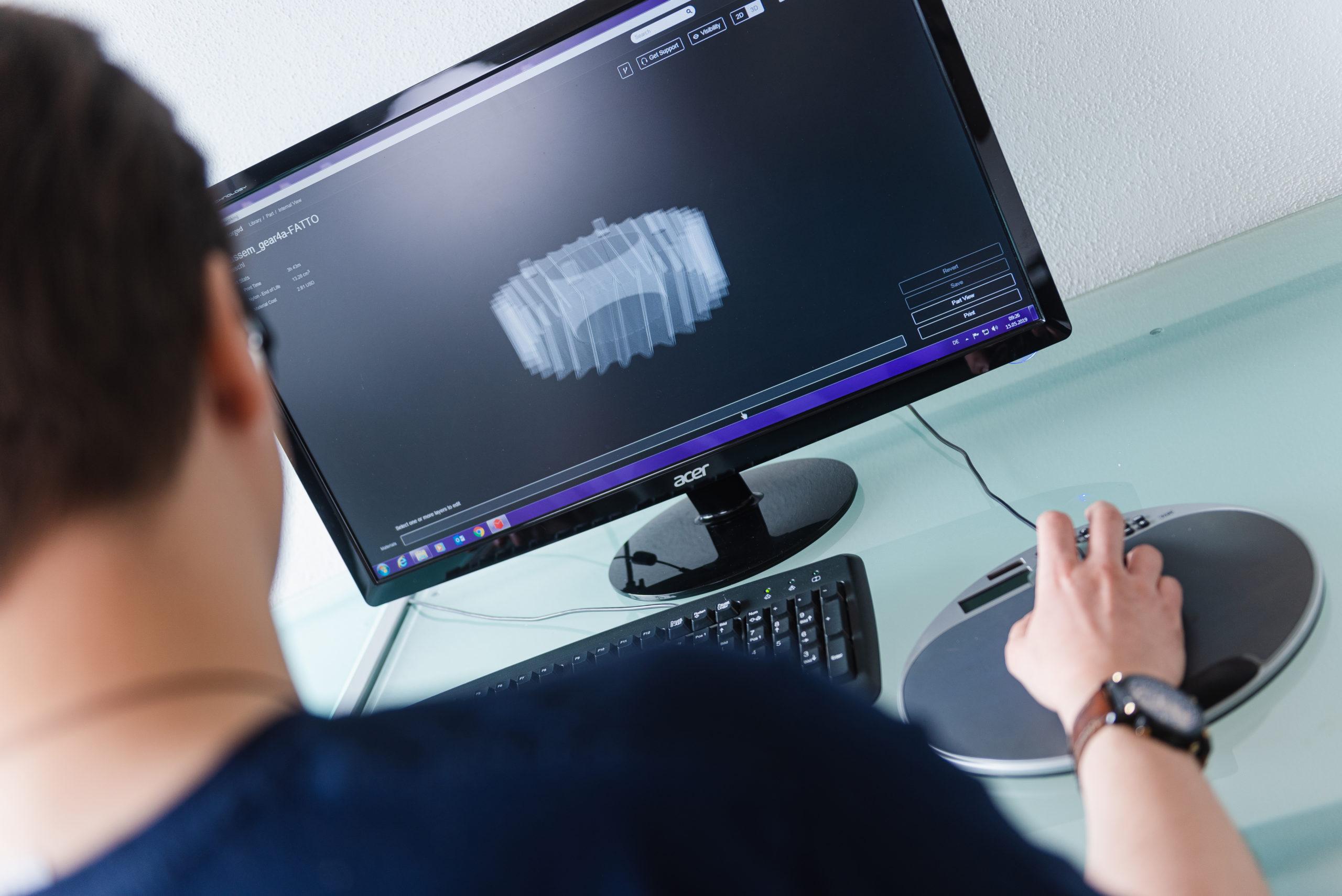 Kunststoff-Konstruktion im CAD-Programm