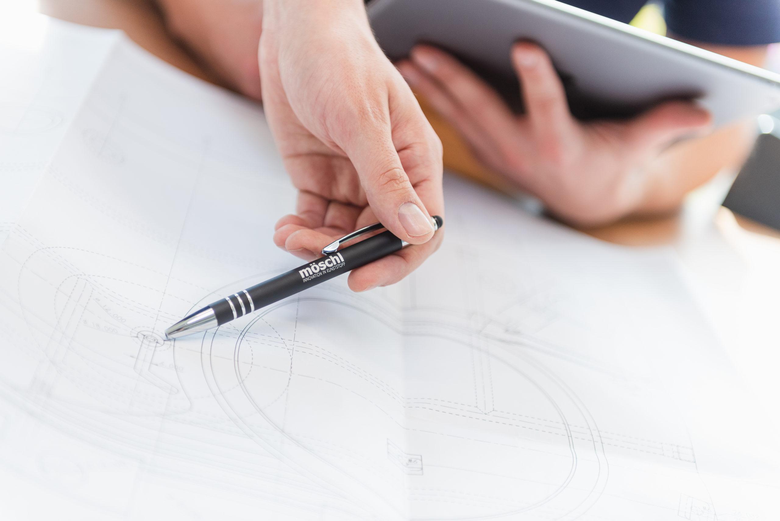 Technische Zeichnung Spritzgussteil