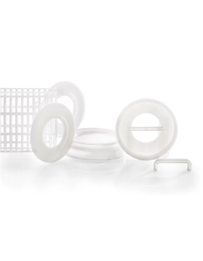 Kunststoffspritzgussteile weiß